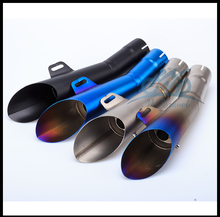 Motorcycle Stainless Steel for GP HP Exhaust Muffler Pipe Slip-On For R6 with DB killer pipe