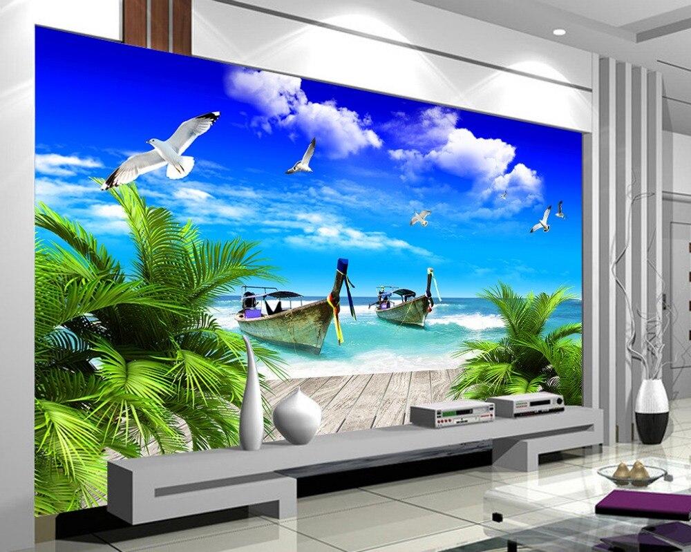 Personalizado 3d papel de parede 3d paisagem papel de for Papel pared personalizado foto