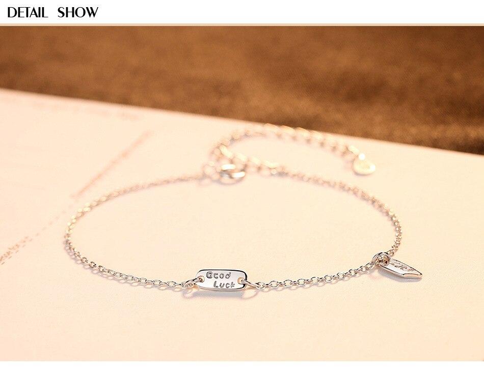 S925 bracelet en argent sterling petit bijoux fille frais bijoux en argent