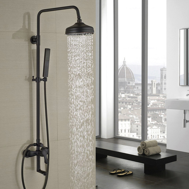 Rain Shower Head Wall Mount Oil Rubbed Bronze And Inspiration Decorating