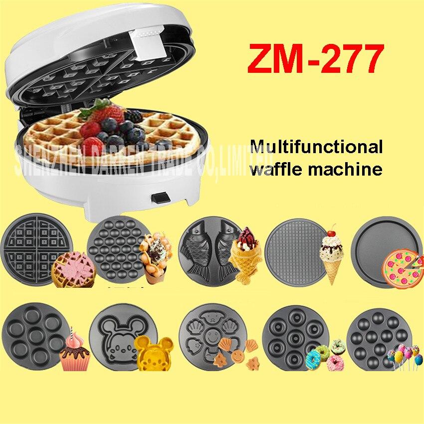 ZM-277 220 В Casa 7 Кухня Многофункциональный яйцо вафельница/пончик машина/Сердце вафельница/торт поп машина-плавающего типа ...