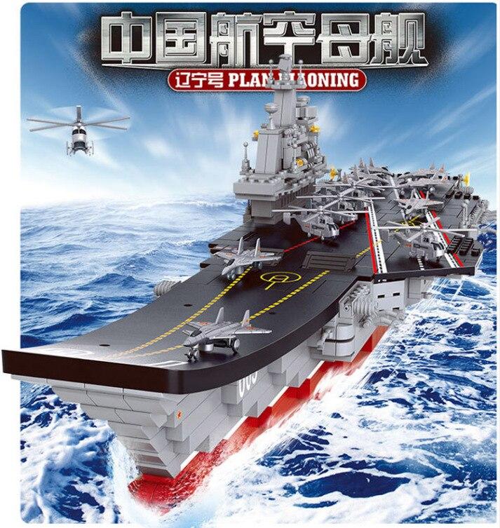 Flugzeugträger Schiff Militärischen Armee Modell boot Bausteine 1:450 1059 stücke Lernspielzeug für...