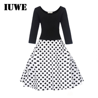 2017 Girls Winter Christmas Dress Costumes For Fancy Party Dot Print Warm White And Black Long