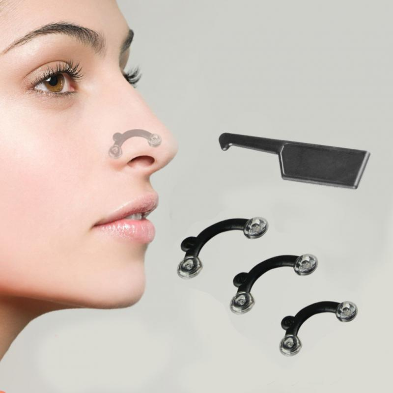 Beauty Correction Nose No Pain Stealth Hoist Bridge Former Massage Tool Nose Trim Clip Women Girl Massager #1074
