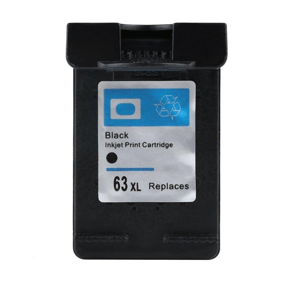 Melna tintes kasetne 63 XL, kas paredzēta Deskjet 2130 kasetnei 1110 3635 3632 3630 OfficeJe 3830 4650 4655 Printeris 63XL, kas nav OEM