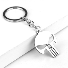 Marvel Punisher Skull Stainless Steel Keychain Key Chains The punishment Jewelry Gift