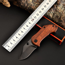 Tactical 55HRC High Hardness Steel + Color Wooden Handle Folding Knife Outdoor Camping Hunting Survival Pocket KnifeTool high hardness tactical folding knife survival pocket knife hunting knives milling pattern handle inlaid micarta 1084