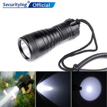 SecurityIng DIV03 800 Lumens XM-L2 LED Waterproof IP68 Under Water Diving Flashlight Support AA Battery for Diving Lighting цены онлайн