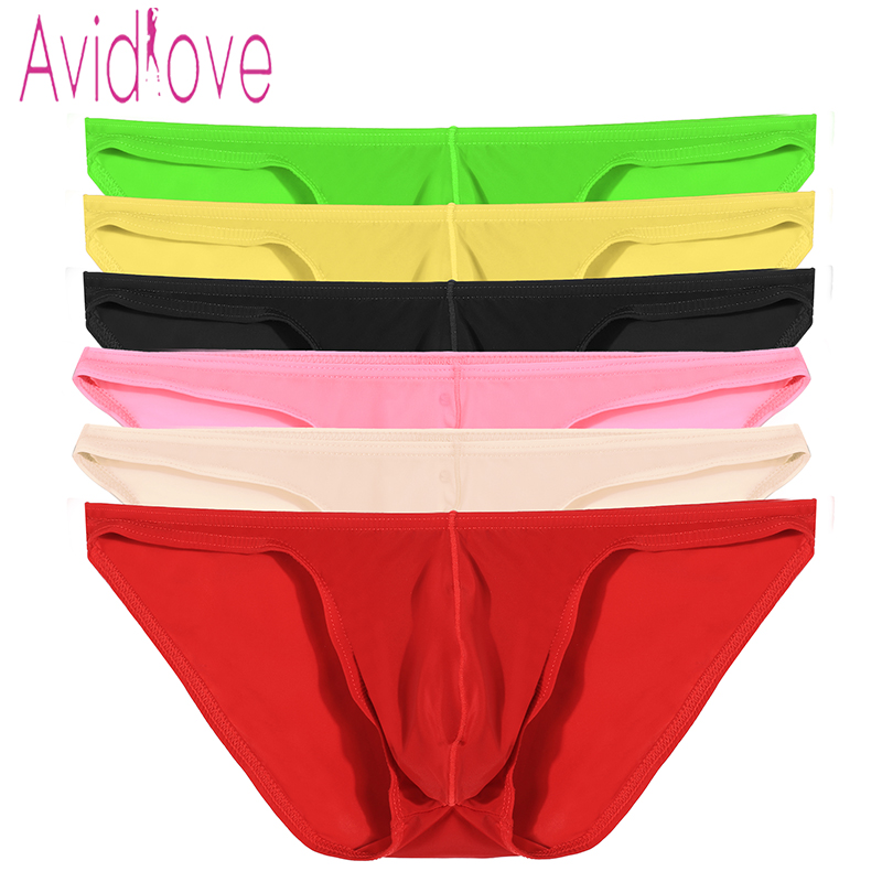 Avidlove <font><b>Men</b></font> Brief Breathable <font><b>Sexy</b></font> Ice Silk Triangle Underpants Perspective <font><b>Erotic</b></font> <font><b>Sexy</b></font> <font><b>Underwear</b></font> 7 Colors M-4XL U2 image