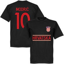 16da8bf27f4 Croatia Modric 10 Team T-Shirt - Black discout hot new fashion top free  shipping 2018 officia 100% Cotton Brand New T Shirts