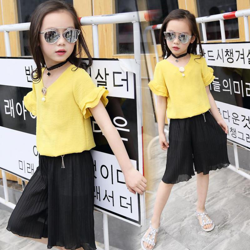 2017 Teenage Girls Clothing Sets Fashion Style Sports Suit Sets For Girl Kids Blouses + Pant Clothing Sets Children Clothes Wear dhl equick ems shipping 6 sets girls clothing sets lots fashion kids clothing sets 2017 top jean pant 2pcs girls clothes sets