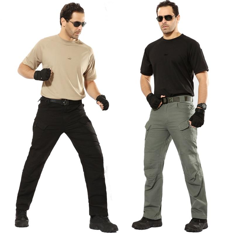 2018 Mens Tattico Militare Pantaloni Multi-tasca Di Combattimento Pantaloni Da Trekking Pantalon Thermique Homme Arrampicata All'aperto Pantaloni Cargo