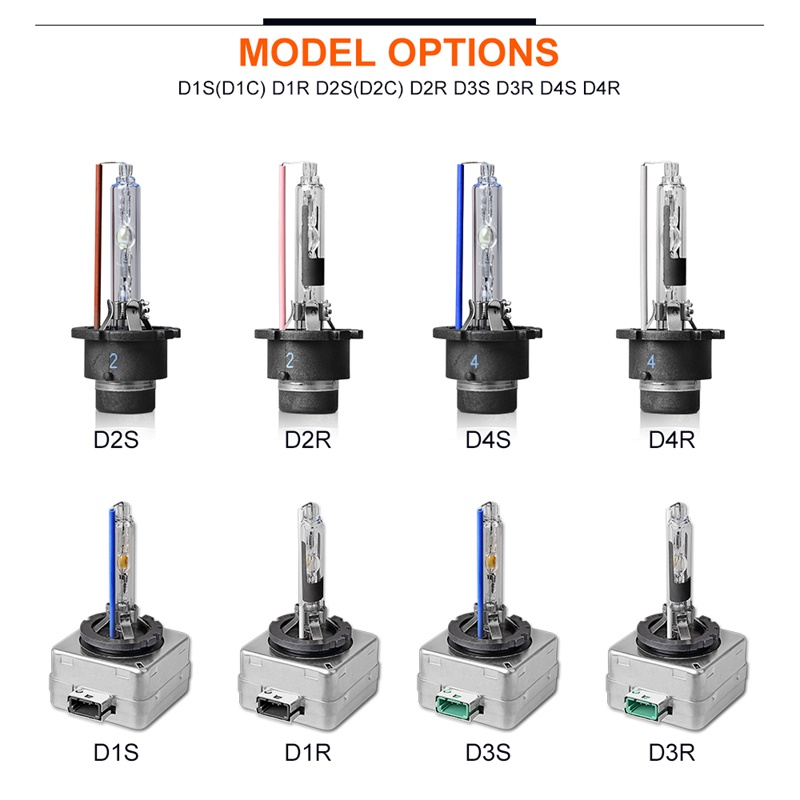 D1S D1R D2S D2R D2C D3S D4S D4R HID Xenon Headlight Lamp Light Bulbs Replace OEM
