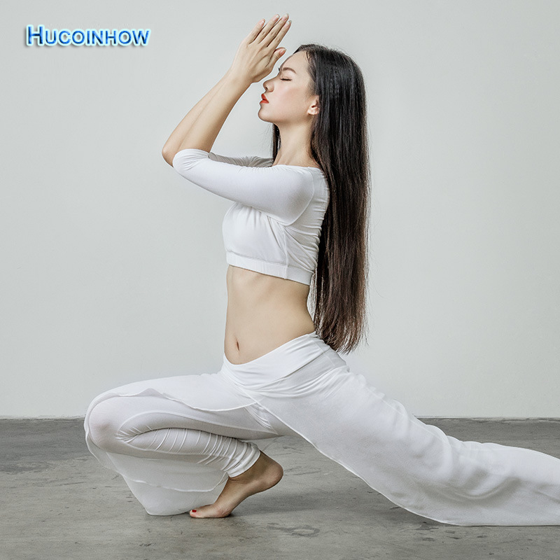 HUCOINHOW Modal Jogging Suits For Women High Quality Yoga set Solid Color Classic Dance Clothes Yoga Half  Sleeve Shirt +Pants