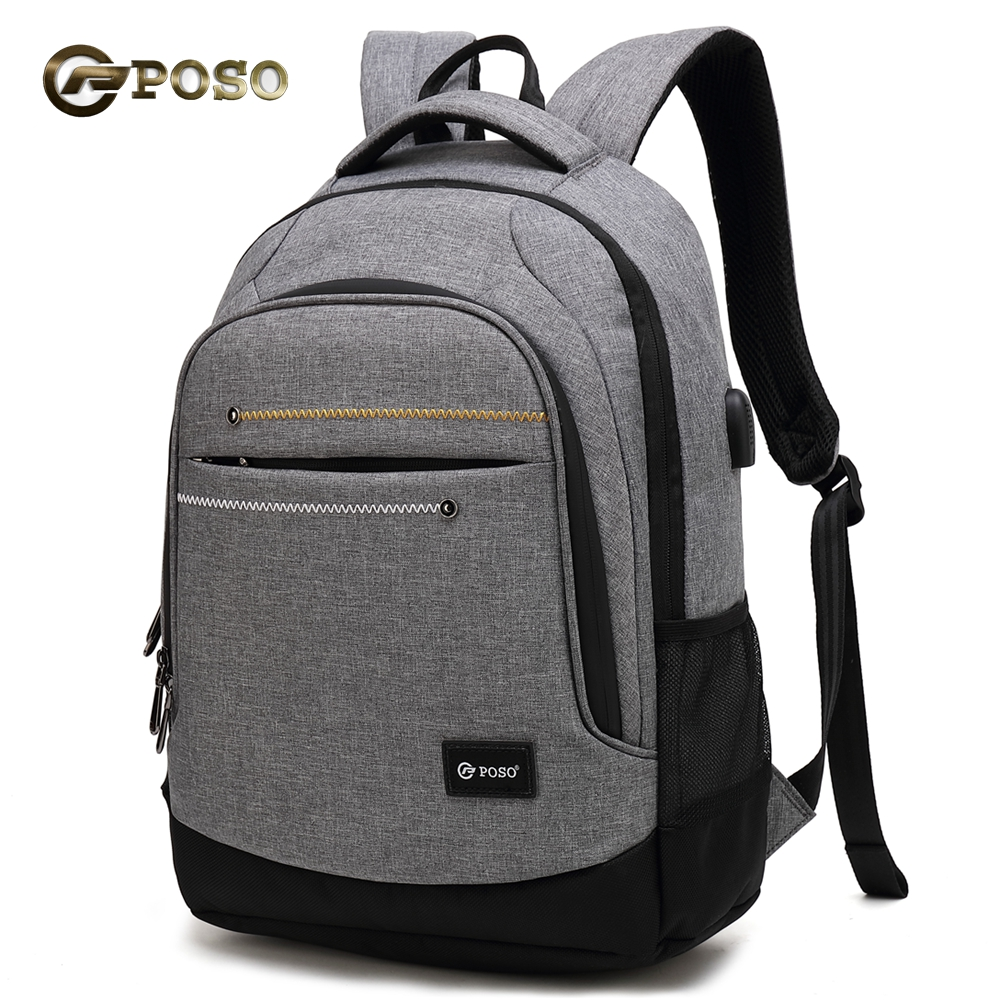 USB charge waterproof laptop backpack for 15 15.4 15.6