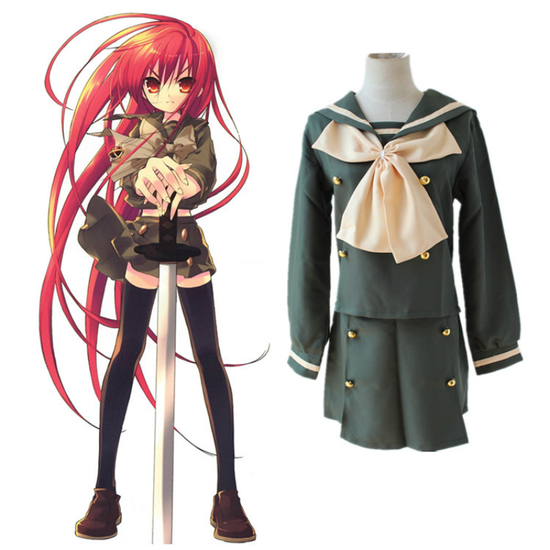 Cosplay School Uniform Dress Wigs For Shakugan No Shana 1th 2nd Girls Japanese Anime Cartoon Carnaval Halloween Costumes Adult