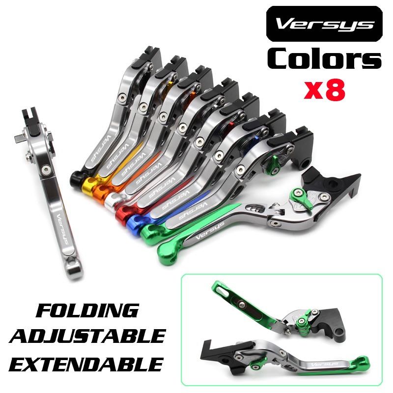 For KAWASAKI KLE 650 Versys 2015-2017 Motorcycle Accessories Folding Extendable Brake Clutch Levers