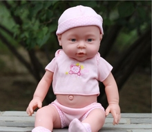 High quality 41CM simulation baby rebirth dolls soft / bath lovely children early education China girl toys mannequin B264