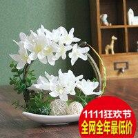 Artificial flower thai orchid silk flower decoration flower tracery artificial rack new arrival flower
