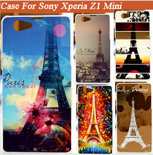 High quality new painted Eiffel Towers design hard pc Case Cover FOR Sony Xperia Z1 mini Z1 Compact Phone Case Cover Shell