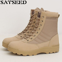 Tactical Combat Boots Outdoor Shoes Women Winter Shoes Mountain Desert Boots Ankle Lace Up Work Safety