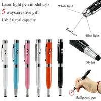 Movimentação leve 8 gb 16 gb 32 gb 64 gb do flash de usb da forma da pena do laser de 3 cores usb disco usb 2.0 pen drive pen drive pendrive u disco
