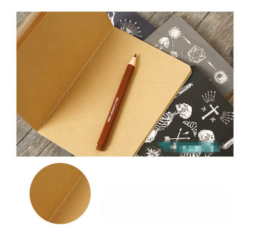 Kawaii Mini 12.4*9 Cm Tua Lukisan Indah Lucu Notebook untuk Menulis 8 Jenis Harian Buku Tulis Kantor Sekolah perlengkapan
