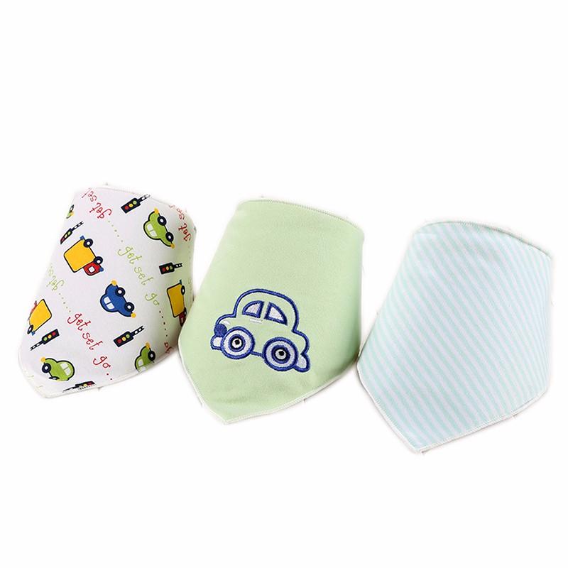 3pcsset Baby Bibs Cotton Bandana Bibs Newborn Baby Girls Boys Infant Babador Saliva Bavoir Towel baberos bebes Babadores WZ001 (8)