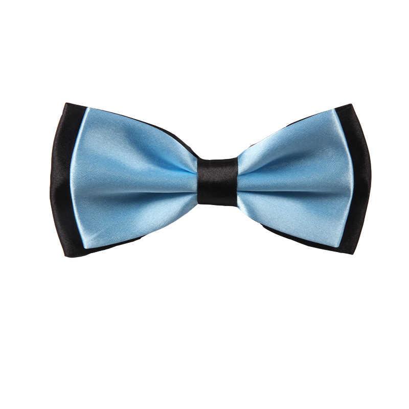 Man Two Tone ธุรกิจสูท Neckwear ปรับ Pure พ็อกเก็ตสแควร์ผ้าเช็ดหน้า Party ครบรอบ #5034 สีดำ/สีขาว