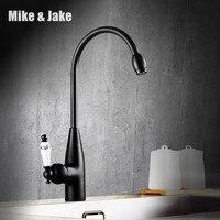 Black Ceramic Kitchen Faucet Antique Bronze Brass Bathroom Kitche Sink Mixer Vanity Sink Mixer Tap Single
