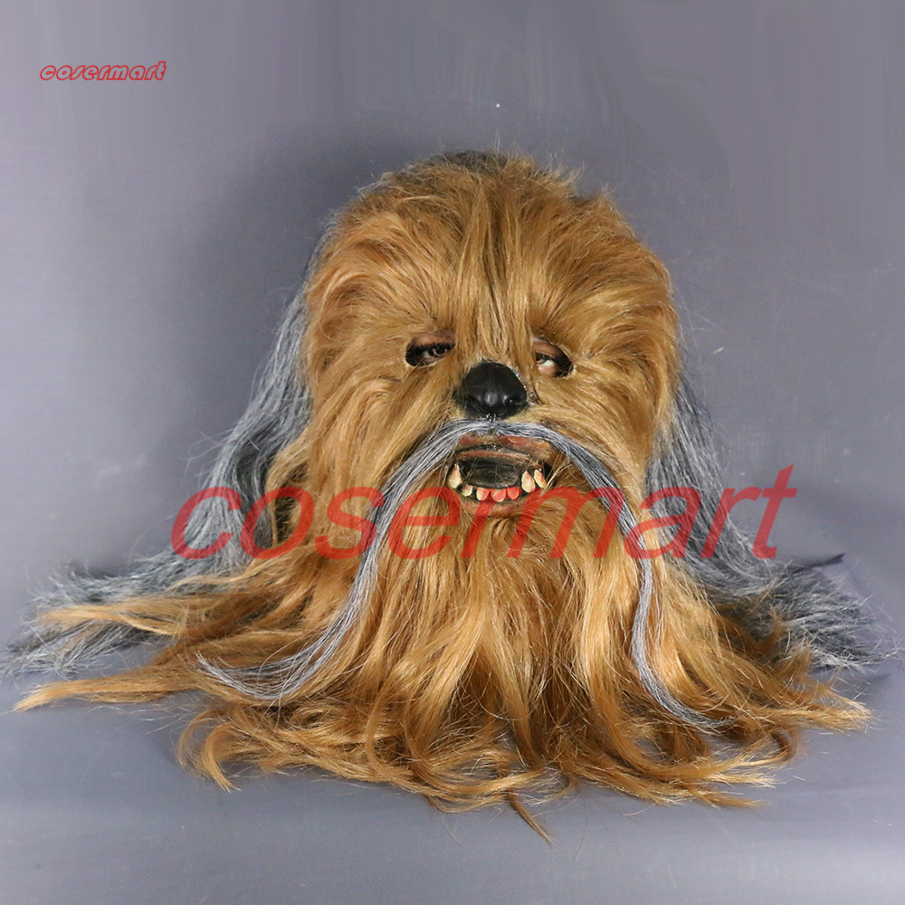 Máscara de Star Wars Disfraces 7 Series Cosplay Máscara Chewbacca Casco Cosplay Halloween