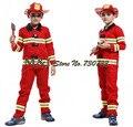 Бесплатная доставка!! Пожарный мальчики играют сценические костюмы Хэллоуин детская одежда пожарных пожарных