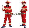 Free shipping!!Fireman boys play stage costumes Halloween children clothing firefighters fire fighters
