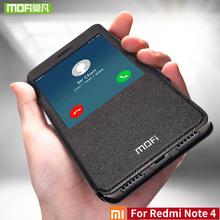 ل Xiaomi redmi ملاحظة 4 حالة ل Xiaomi redmi ملاحظة 4 حالة النسخة العالمية غطاء mofi سيليكون فليب 360 xiaomi redmi Note4 حالة