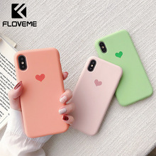 FLOVEME Soft Silicone Case Cover For iPhone XR X XS MAX TPU 7 6 6s 8 Plus Luminous Ultra Thin Cases