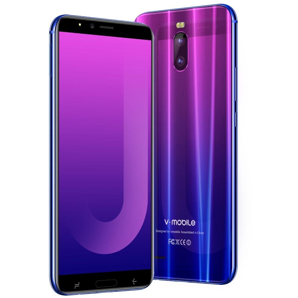 VMobile J6 Mobile Phone Android 7.0 6.0 HD Full Screen 18:9 2GB RAM 16GB ROM Face ID Dual Sim 4800mAh 3G Quad Core Smartphone