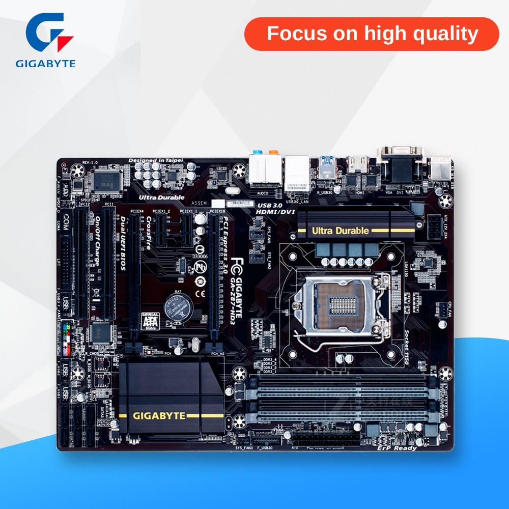 Gigabyte Ga Z87 Hd3 Original Used Desktop Motherboard Mb Asus H61 Mk Lga 1150 I3 I5 I7 Ddr3 32g Sata3 Usb30 Atx