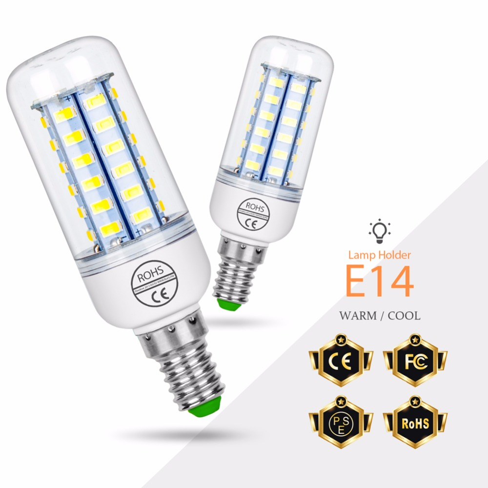 E27 LED Lamp 220V E14 LED Corn Lamp Bulb 24 36 48 56 69 72LEDS home bombillas LED Energy saving Lighting Bulb SMD5730 AC240V