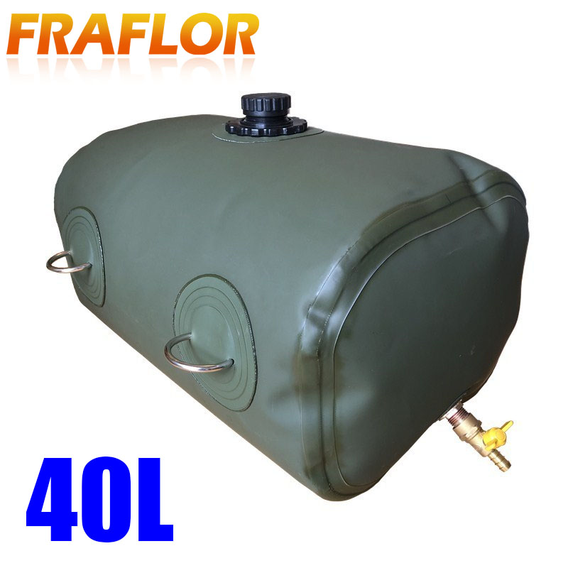 40L Liter 10Gallon Foldable Spare Petrol Fuel Bag Jerry Can ATV UTV Off Road Car Gasoline