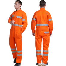 Work Coveralls Men Women Long Sleeve Wear-resistant Working Overalls Reflective Strip Safety Clothing Repairman Factory Uniforms(China)