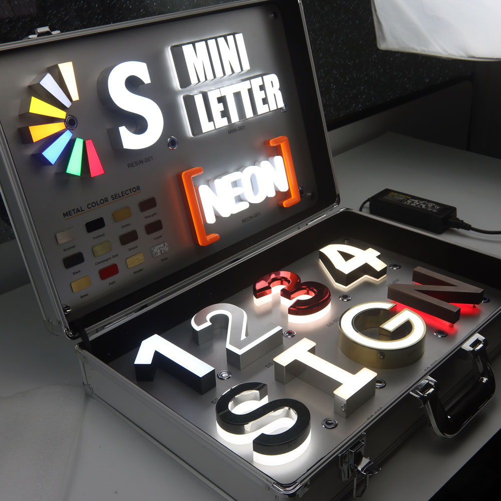Popular 3D Stainless Steel Led Channel Letter Store Sign(China)