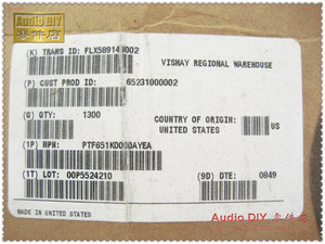 Image 4 - 2018 بيع 30 قطعة VISHAY ديل PTF65 1K/0.5 واط 0.05% 10ppm عالية الدقة درجة حرارة منخفضة الانجراف المعادن فيلم المقاومات شحن مجاني