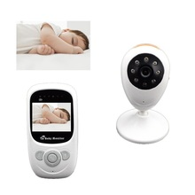 Wireless Baby Monitor 2.4 inch LCD 2 way talk 4 Lullabies 4 CHs IR night vision Rechargeable Battery 2X Zoom Video Baby Monitor