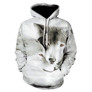 Image 3 - 2018 nowe bluzy z kapturem wolf męska bluza z kapturem jesienno zimowa bluza z kapturem hip hopowa bluzki w stylu Casual markowa 3D głowa wilka bluza z kapturem bluza Dropship