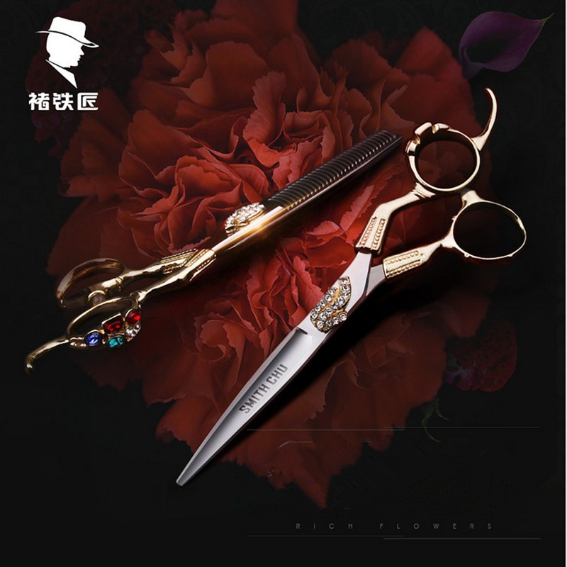 6 INCH Razor Sharp Professional Hairdressing Scissors SMITH CHU Japanese 440C Hair Shears for Barbers Cutting Thinning Stylists smith chu scissors professional hair scissor tools cutting teeth thinning scissors 6 0 td 630
