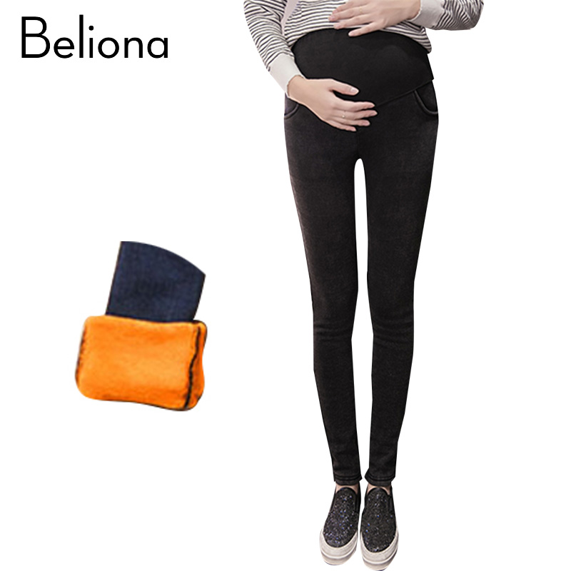 5e622706beb3b New Maternity Jeans Skinny Pants Capris For Pregnant Women Plus High Waist  Leggings Pregnancy Clothes Winter Maternity Clothing