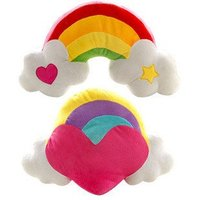 Wholesale Home Hecoration Gift Plush Toy Rainbow Candy Chair Pad Cushion Car Seat Cushion Pillow 53