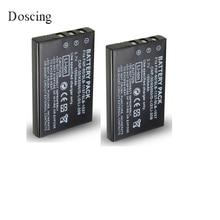 2 шт./лот 3,7 в 1500 мА/ч, NP-60 NP 60 NP60 Перезаряжаемые литий-ионный аккумулятор для Fujifilm FUJI FinePix M603 F601 F410 F401 50i с переменным фокусным расстоянием
