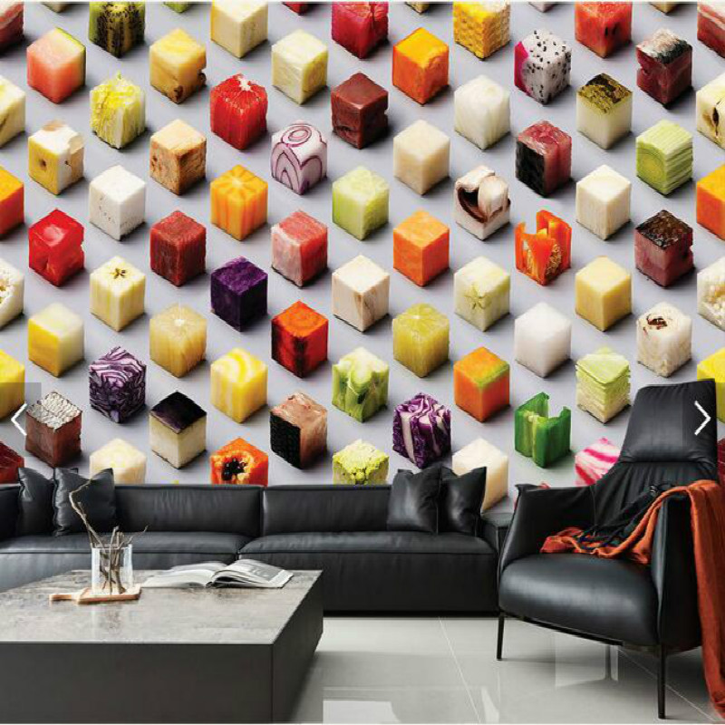 3D Food Creative Food Large Mural Wallpaper Living Room Bedroom Wall Painting TV Backdrop 3D Wallpaper  free shipping creative basketball star tooling background wall painting waterproof bedroom living room mural wallpaper
