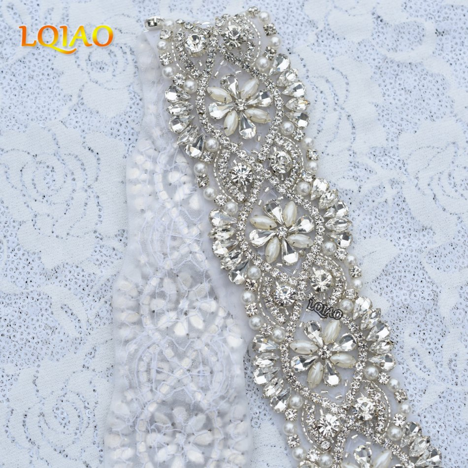 1 Yard Handmade Hot Fix Beaded Flatback Rhinestones Lique Crystal Embellishments For Wedding Belt Sew On Ra3003 In From Home